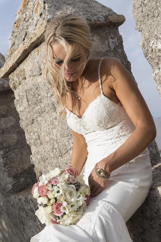 Novia durante la boda en Vejer