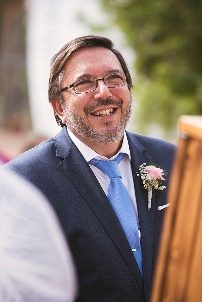 Fernando el día de la boda
