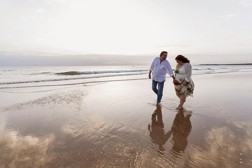 Fotos en la Playa para Aniversario de Boda